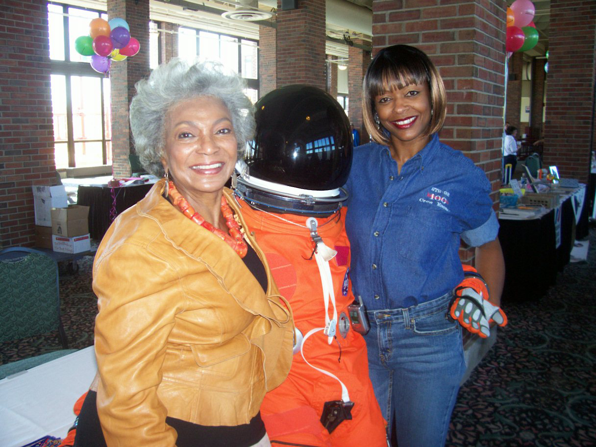 Sharon McDougle and Lt. Uhura
