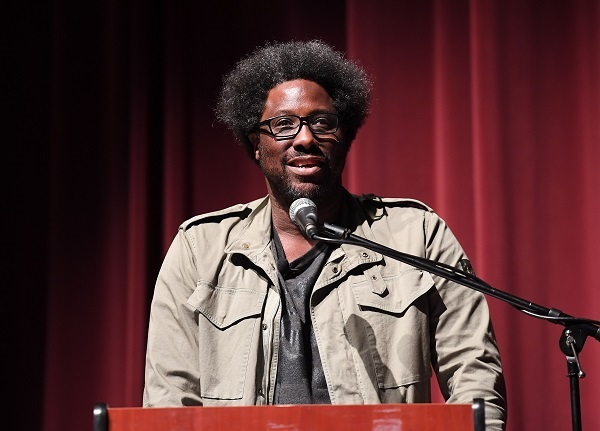 "W. Kamau Bell speaks onstage at ""HBCU"" Episode Preview and Panel Discussion hosted by United Shades of America With W. Kamau Bell at Morehouse College - Ray Charles Performing Arts Center on April 23, 2018 in Atlanta, Georgia. (Photo by Paras Griffin/Getty Images)"