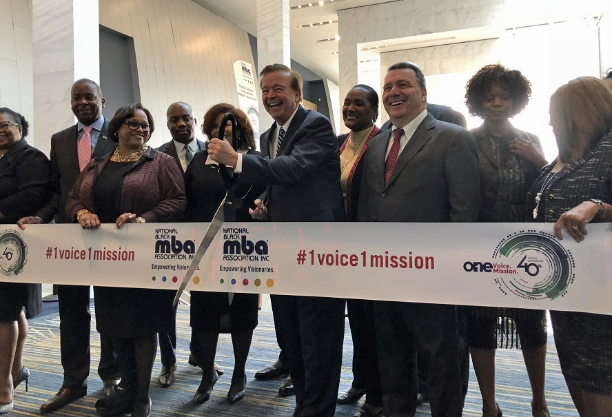 NBMBAA President and other members cutting the ribbon at annual ceremonyRibbon Cutting