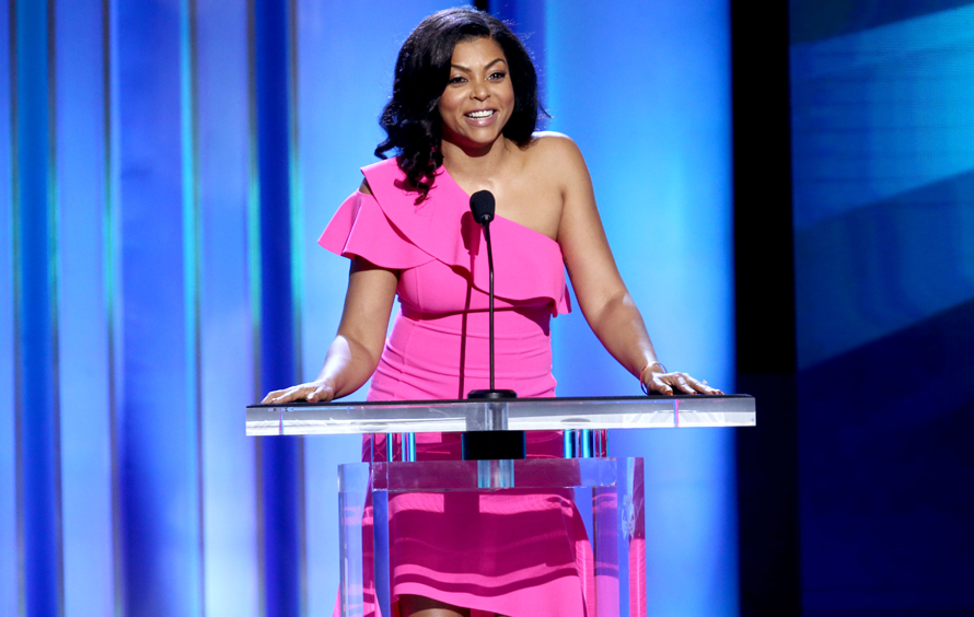 Taraji P. Henson speaks onstage during the 2019 Film Independent Spirit Awards. TOMMASO BODDI/GETTY IMAGES