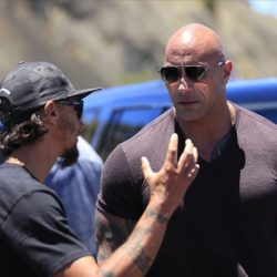 Dwayne The Rock Johnson talks with protester in Hawaii