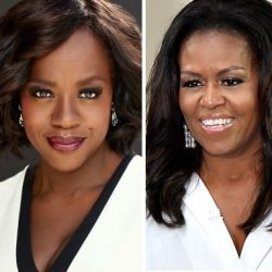 Michelle Obamba and Viola Davis pictured side by side
