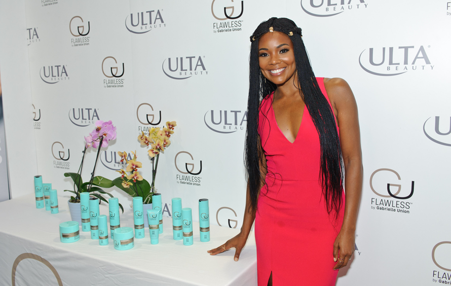 "Gabrielle Union appears at Ulta Beauty to promote her ""Flawless"" line on Michigan Avenue on September 28, 2017 in Chicago, Illinois. TIMOTHY HIATT / CONTRIBUTOR / GETTY IMAGES"