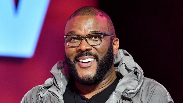 Tyler Perry smiling for a promo shot