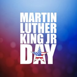 Martin Luther King JR day sign illustration